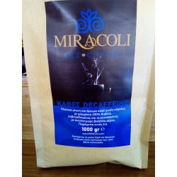 Espresso decafeine Miracoli 100% arabica.